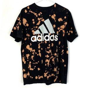 Adidas Go To Tee Black Custom Bleached Unisex